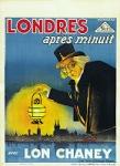 Londres après minuit poster