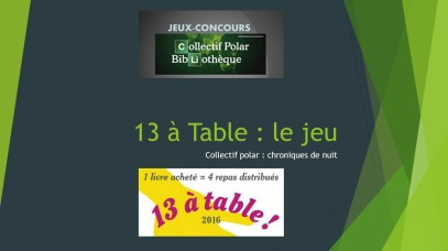 13 à table le jeu